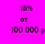 15% скидки от 100000 ₽